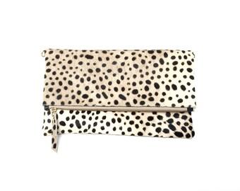Lyn Leopard Clutch Handbag