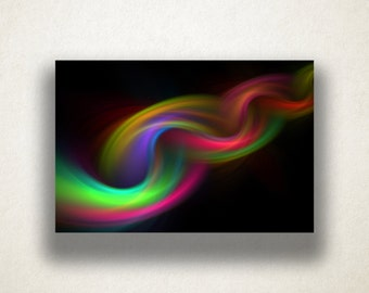 Abstract Rainbow Rope Canvas Art Print, Rope Design Wall Art, Abstract Rainbow Canvas Print, Canvas Art, Canvas Print, Home Art, Wall Art