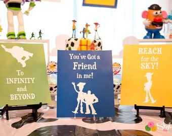 Toy Story Inspired Signs
