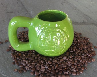 Hulk Kettlebell Mug, 24oz Handmade Ceramic Mug