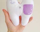 Tooth Fairy Pillow, Tooth Pillow, Tooth Fairy, Tooth Cushion, Personalised Tooth Pillow, Tooth Pouch, Felt Tooth, Children's Felt Tooth