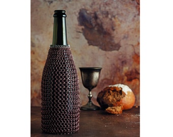 Chainmail Wine Bottle Cozy