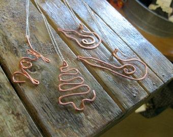 Necklaces: Reclaimed Copper Christmas Pendants