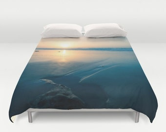 Duvet Cover Beach Photo King Duvet cover Red Sunset Queen Duvet Cover Lilac Cloud Full Duvet Cover Art Photo Duvet Cover Christmas gift