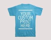 Custom Print T-shirt Vintage Style