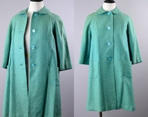 Women's 1950s Blue Swing Coat