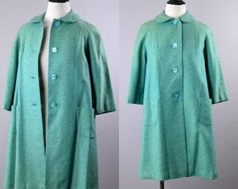 Women's 1950s Blue Swing Coat
