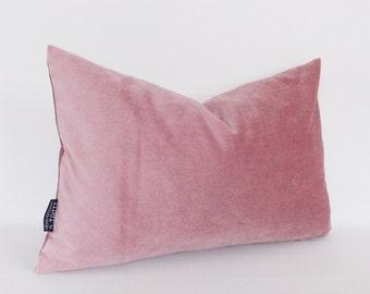 Rose Velvet Cotton Pillow Cover, Rose Velvet Cushion,Decorative Velvet Rose Pillow, Throw Rose Pillow, Lumbar Pillow, All Size