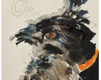 Scottish Terrier Dog  Art Print Scottie Dog #50 Scottie Dog