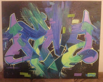 "Graffiti Print ""Time"""
