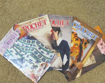 Annie's Crochet Newsletter 5 issues for 1991  Good Condition  Non Smoking Home Vintage Crochet Patterns Numbers 50 thru 54