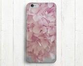 Pastel Pink Flower Phone Case, Pink Hydrangea Flower, For Her, iPhone 5, iPhone 6, iPhone 6 Plus, Galaxy S4, Galaxy S5, Galaxy S6, iPad Case