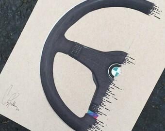 M 3-Spoke Wheel Print