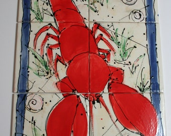 Lobster in Maine: Decorative Ceramic Tile Group