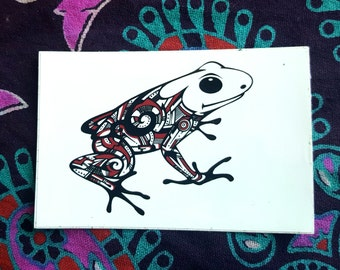 Tree Frog Vinyl Sticker