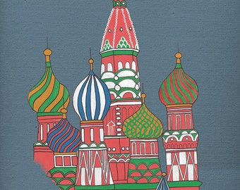 St Basil's Cathedral, Russia - Acrylic Art Print - 10 x 8
