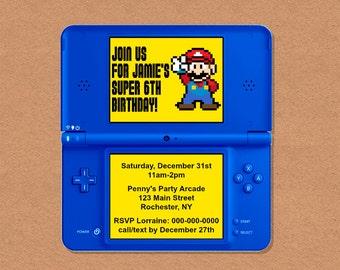 DIY Printable Video Game Birthday Party Invitation, Video Game Party, Gamer Birthday Party, Video Game Birthday, Customizable Invitation