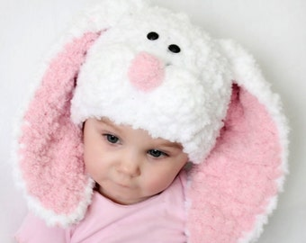 PDF crochet pattern EASTER  hat with floppy ears,easter bunny