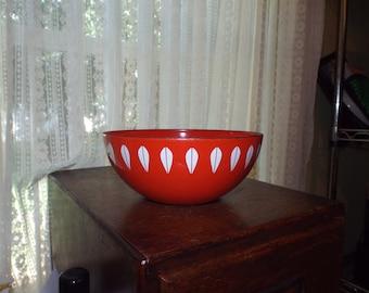 Vintage Enamelware by Catherineholm Norway Lotus Red Bowl