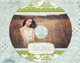 ON SALE CD/Dvd label photoshop template - Photography Cd label - photoshop template for photographers - instant download