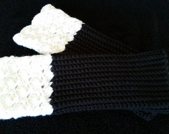 Hand-crocheted, Lacy Boot Cuffs or Leg Warmers