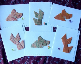 Origami Animal Cards - Set of 6
