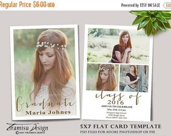SALE Senior Graduation Card ,Photoshop Template,Photography Template , Photo Card Template,sku gr16-1