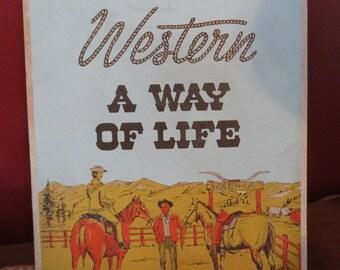 Vintage Western Apparel Cardboard Advertising Sign/Display