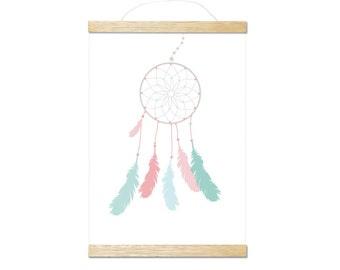 dreamcatcher pink art print