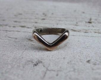 Bronze Chevron Ring