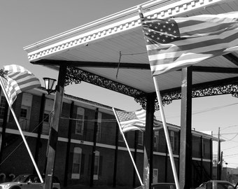 Flags Flying, Fine Art Photography, Black and White Photography,