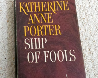 Ship of Fools, Hardcover Book Novel by Albert Halper Antique Book