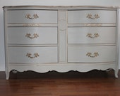 SOLD***French grey Dresser/Long Dresser/Changing Table/Media Console
