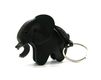 Leather Elephant Vintage - Key Ring