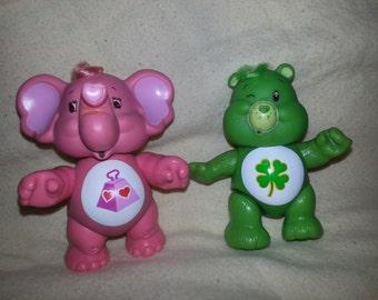 Vintage 1980's Kenner Care Bears Figurines set of 2
