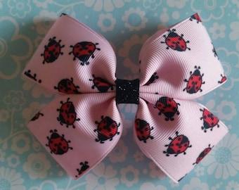 Lucky Ladybug hair bow
