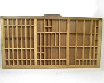 Essential Oil Storage, Vintage Printers Tray, Letterpress Drawer, Display Case, Shadow Box Display, Industrial Decor