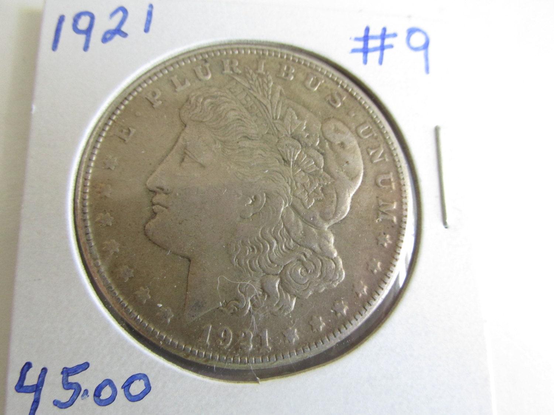 Silver Dollar 1921 Antique Coins 1921 Morgan Dollar 1921 Usa