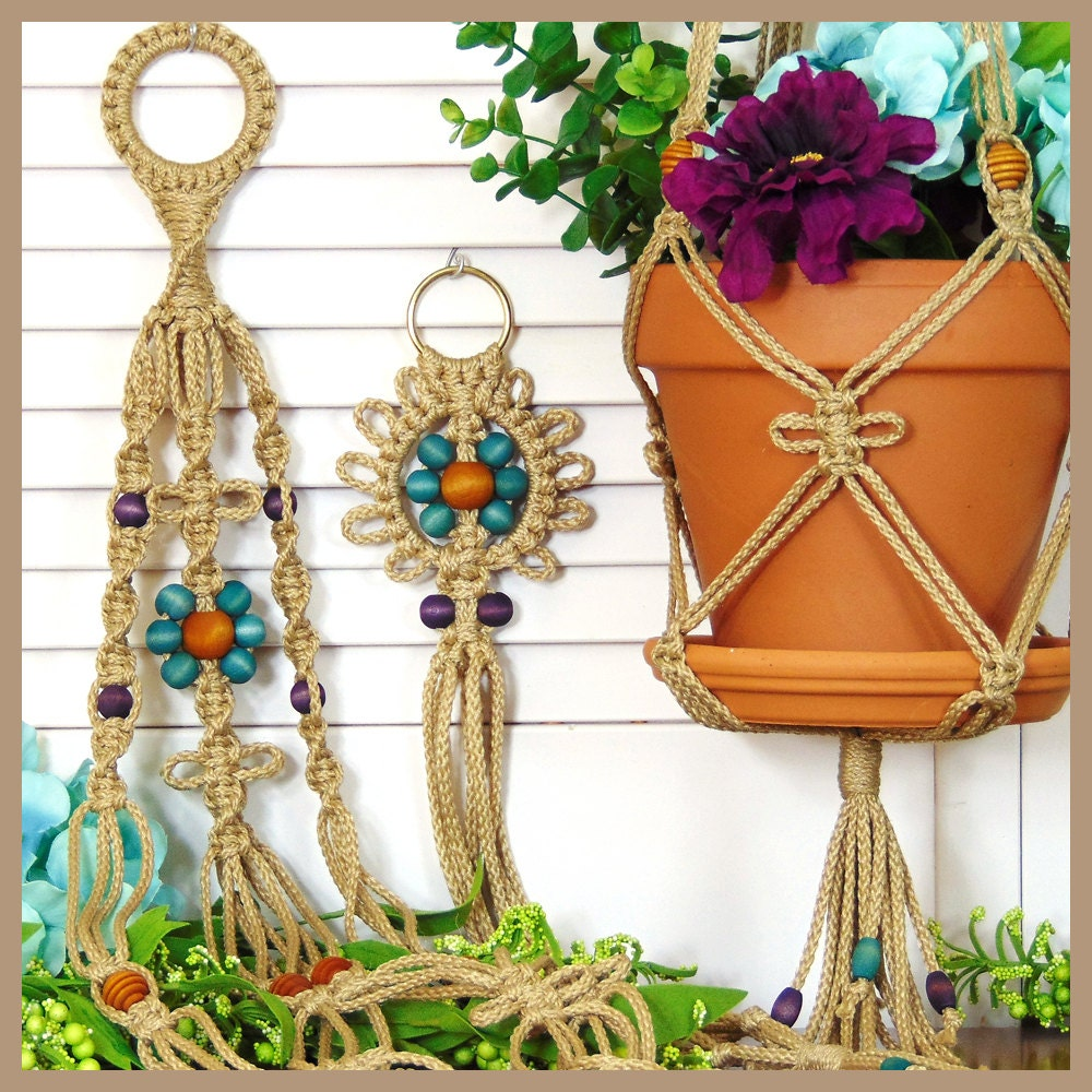 Hanging Plant Holder Indoor Plant Hanger Macrame Flower Pot