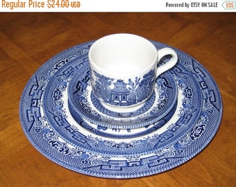 SUMMER SALE Churchill Willow - Four-Piece Place Setting