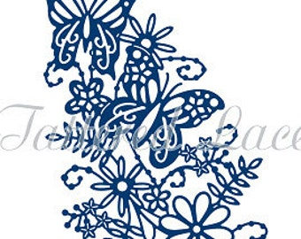 Tattered Lace Die Blossoming Butterfly