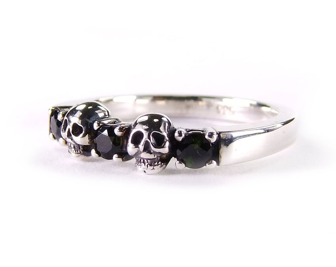 RESERVED FOR TARA Payment Plan for 14K white gold wedding ring with black diamonds total price 780 Euros