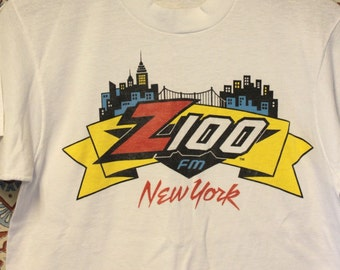 Vintage Z100 FM New York City Radio Station Pop Radio T Shirt