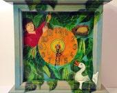 Jack and the Beanstalk Mantel Clock