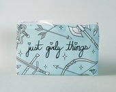 Just Girly Things Cosmetic Bag (MINT)