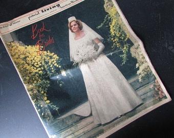 Wedding Paper Ephemera Vintage Book For Brides Newspaper Insert Retro Wedding Styles Scrapbook