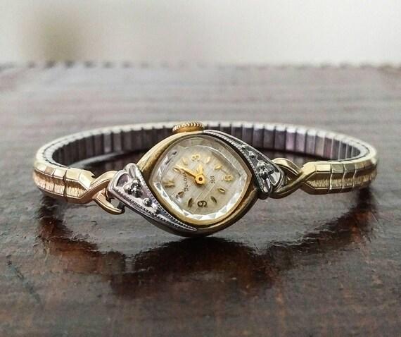 Vintage Bulova Watch Petite Ladies 10k Rolled Gold 23 Jewel