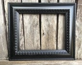 11x14 Black picture frame,Ornate,Black, Vintage Chic, Baroque, wedding frame, wall gallery frames, Black frames (los angeles)