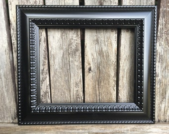 11x14 Black picture frame,Ornate,Black, Vintage Chic, Baroque, wedding frame, wall gallery frames, Black frames N502 (los angeles)