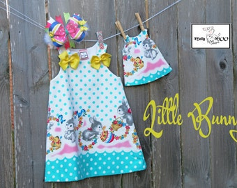 Dolly and Me Dress-Little Bunny (Dolly Dress only)